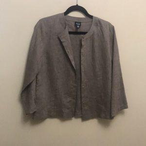 Eileen Fisher 100% Irish linen blouse